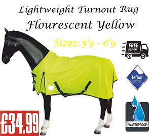 Lite Horse Turnout Rug *Reflex* Fluorescent Waterproof All Sizes *Free Next Day*