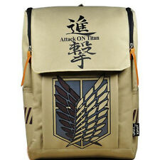 Large Capacity Attack on Titan Backpack Canvas Rucksack Anime Book Laptop Bag