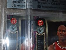 1997-98 Precious Metal Gems PMG MICHAEL JORDAN BGS 9 Pop 1/1 Error Back #23