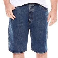 "Foundry Supply- Denim Shorts, BIG& TALL Size: 54"", Color: Medium Stonewashed"