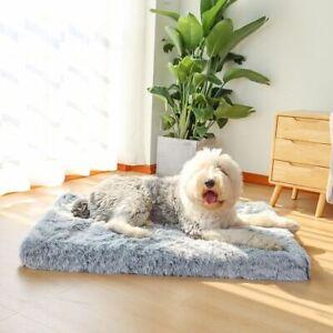 Dog Sleeping Mattress Soft Plush Removable Cover Orthopedic Foam Rectangular Mat