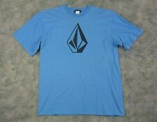 Youth Unisex VOLCOM Short Sleeve Graphic T-Shirt / Blue / Company Logo / XL