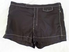 PRADA authentic black nylon red logo swim trunks board short shorts 52 34 36