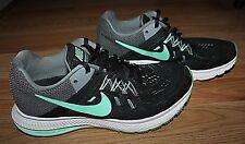 Women's NIKE ZOOM WINFLO 2 Black Green Glow Running Shoes 807279-003-Size 6.5!