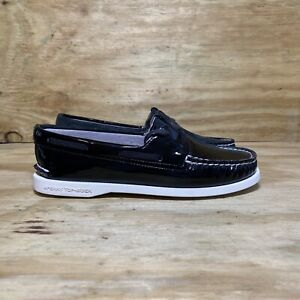 Sperry Port Star Black Boat Shoes Women's Size 11