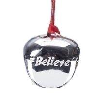 Roman Silver Believe Bell Ornament (35242)