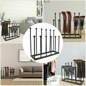 5/6 Pairs Boot Shoe Rack Welly Holder Stand Storage Wellington Hold Display
