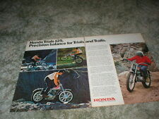 1973 HONDA TRIALS TL-125 Cycle ad  2 pgs Original color