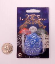 Q-workshop D20 Blue & White Card Game Level Life Counter 20LEV33 Magic MTG *