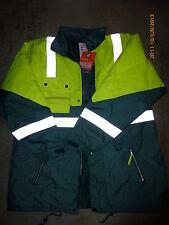 Superior Safety Yellow fluorescent hi-viz all-weather winter work jacket 4XL New
