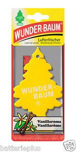 5X Original WUNDERBAUM® VANILLE Lufterfrischer Duftbäumchen Autoduft