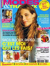 Mode et Travaux n° 1365 aout 2014 magazine sac Couture décoration tricot