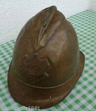 Uralter Messing Feuerwehr Helm mit Wappen