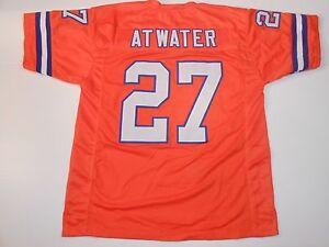 UNSIGNED CUSTOM Sewn Stitched Steve Atwater Orange Jersey - M, L, XL, 2XL, 3XL