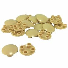 25 NEW LEGO Plate Round 2 x 2 Rounded Bottom (Boat Stud) BRICKS Tan