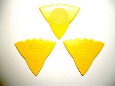 3 Herdim 3-Stärken-Plektren gelb, Plektrum