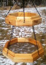 Double hanging octagon platform cedar wood bird / squirrel feeder,The Birds Nest