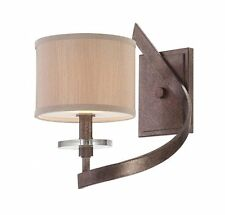 Savoy House 9-4433-1-285 Sconce with Champagne Shades, Antique Nickel Finish