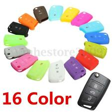 Silicone 3 Button Remote Flip Key Case Fob Cover For VW Golf 7 MK7 Skoda Octavia
