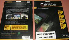 Zagg Invisible Shield Original Screen Protector for HTC EVO View 4G, New in pkg