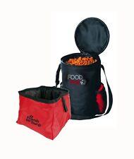 Travel Dog Bowl with food Bag Set Pop up bowl and bag for easy storage caravan