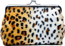 78077 Leopard Bomber Coin Purse Sourpuss Pinup Retro Rockabilly Animal Print NEW