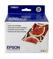 Epson T008 Tri-Color Ink Cartridge T008201 Genuine New