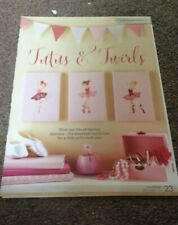 3 ballerina dancers - Tutus & Twirls Design cross stitch chart only/ 23