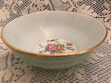 """Minton Bone China Small 4 1/2"""" Bowl, Mint Green with Floral Inside and Gold Trim"""