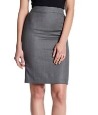 NWT BOSS HUGO BOSS Virgin Wool Blend Micro Check Pencil Skirt Size 4(US)