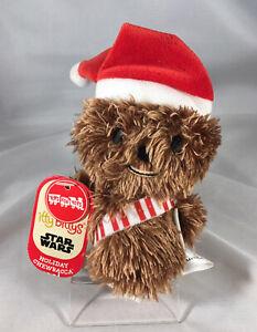 NEW Hallmark Itty Bitty Bittys Star Wars Holiday Santa Chewbacca Mini Plush Doll