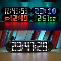Digital LED Electronic Time Clock Voice Control Countdown Transparent DIY Kit