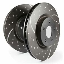 EBC Turbo Groove Disc Bremsscheibe Black VA auch für Nissan 350 Z Z33, 3.5,
