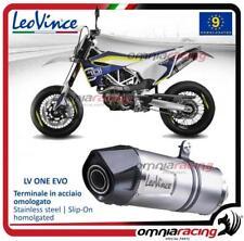 LEOVINCE LV One Omologati in acciaio di Scarico per Husqvarna 701 Supermoto 2015 > 2016
