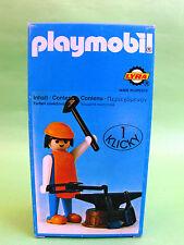 Rare Playmobil Klicky Medieval Blacksmith 3370 Lyra Geobra 1975 Ovp Misb