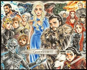 Game of Thrones anime Sketch Card by Sanna U.