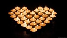 200 x Tealights Long 8 Hour Burning Time Candle Tea Lights White Unscented Party