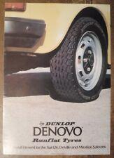 DUNLOP DENOVO Run Flat Tyres for FIAT 126 DE VILLE & 131 MIRAFIORI 1978 Brochure