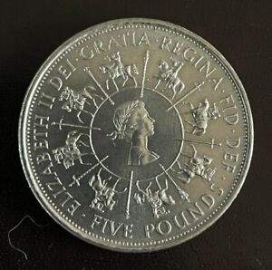 £5 Five Pound Coin 1953-1993 Faith and Truth I will Bear unto You