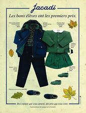 PUBLICITE ADVERTISING 084  1993  JACADI  vetements rentrée des classes enfants