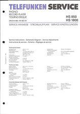 TELEFUNKEN Service Manual per HS 850/1800