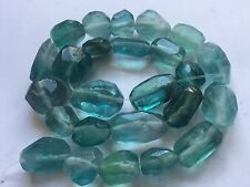 """18"""" Stunning Blue Afghan Florite Hand Polished  faceted Beads Strand"""