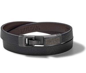Bulova Men's Precisionist Wrap Bracelet Open Cuff Bracelet J98B002M