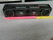 Rare Vintage Panasonic Rx-F11 Dual Deck Boombox Radio Black for parts Only