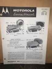 Motorola Radio Mopar,Model 841,842,843 Service Manual.Schematics,parts List.