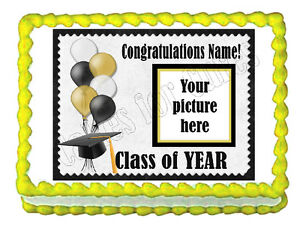 Custom Graduation edible party decoration cake topper decoration frosting sheet