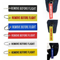 For Remove Before Flight Key Tag Ring Car Motorcycle Keyring Launch Key Chain