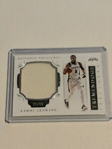 Panini National Treasures Kawhi Leonard Tremendous Treasures Jersey Card 19/99