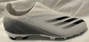 Adidas Youth X Ghosted.3 FG Cloud White/Core Laceless EG8151. Youth Size: 4.5, 5