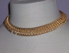 """Gold Tone Intertwined Chain Large Link Necklace 17"""" Long with Double Closures"""
